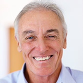 Senior man with whole healthy smile in South Dallas