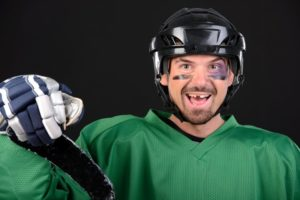 hockey player with missing tooth